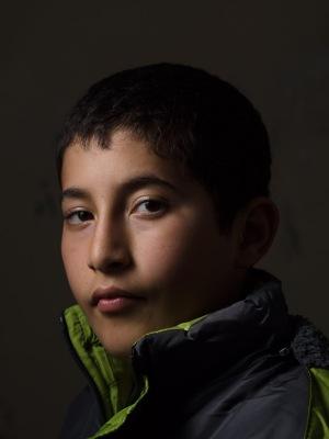 Boy at Syrian school in Reyhanli, by David Gross